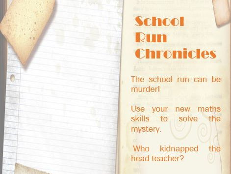 School run chronicles Issue 1 number