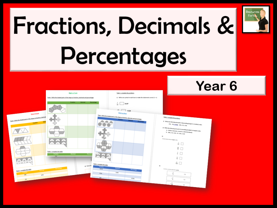 Maths recall and use equivalences between simple fractions, decimals and percentages Year 6