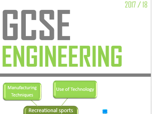 GCSE Engineering:  Revision guide - 2017- 18