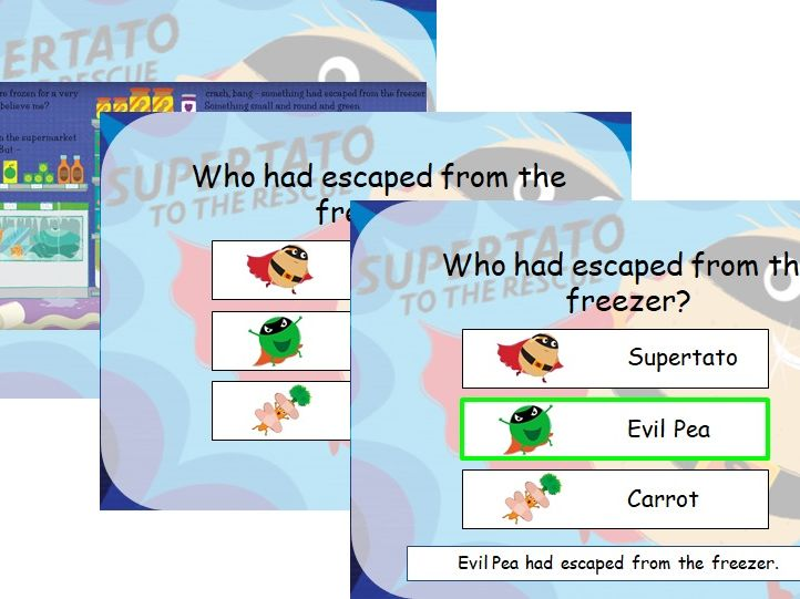 Supertato Comprehension PowerPoint Questions.