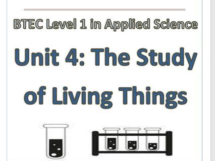 BTEC Level 1 in Science Workbook – Unit 4