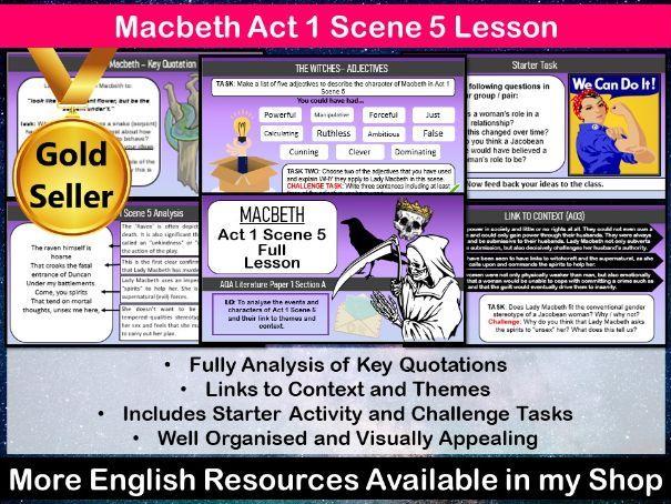 Macbeth Act 1 Scene 5 Lesson