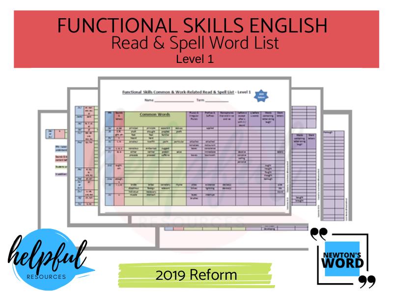Functional Skills English Spelling List L1