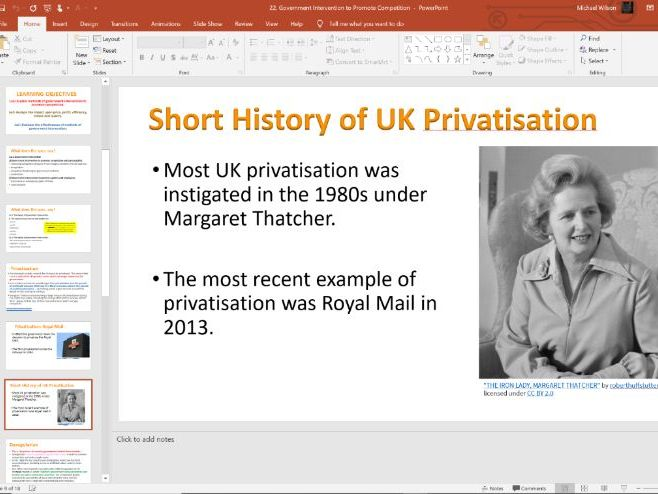 22. Intervention to Promote Competition (Slides, Activities and Notes) - A-Level Economics - Theme 3