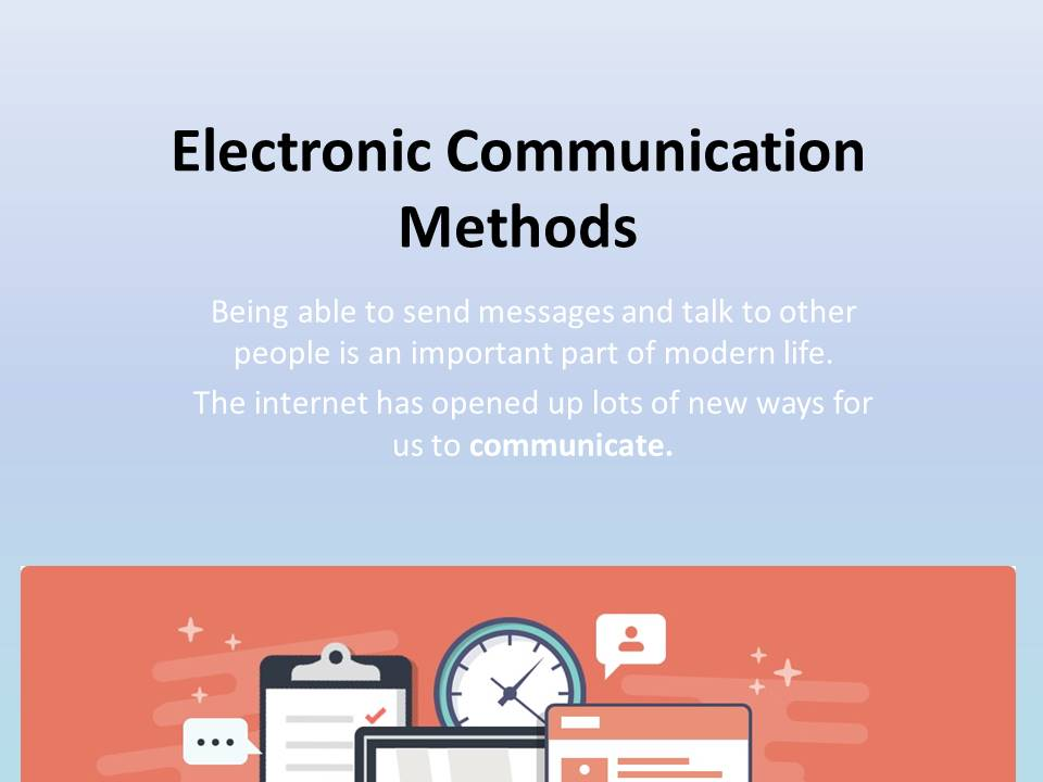 Electronic Communication Methods Scheme of Work. Home learning, Remote learning pack paper based.