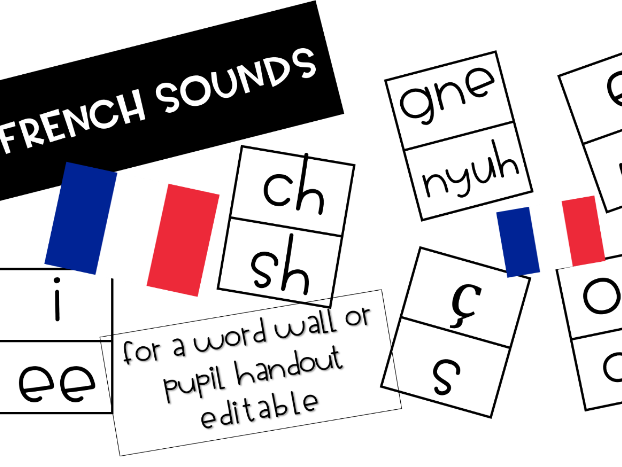 French Commonly Mispronounced  Sounds for Word Wall