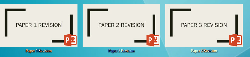 AQA 9-1 GCSE Geography Paper 1, Paper 2 and Paper 3 Revision PowerPoints Bundle