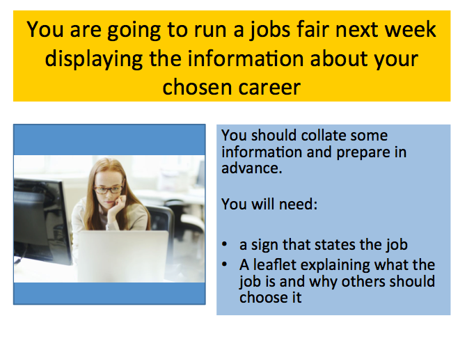Year 9 PSHE: Careers / Options ICT lesson