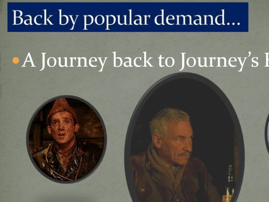 Journey's End - Responding to an exam question