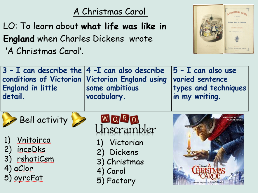 A Christmas Carol KS3 Full Scheme of Work