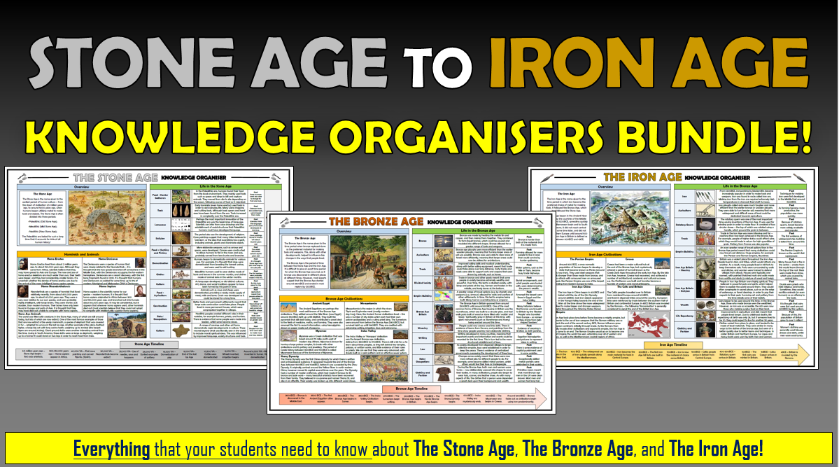 Stone Age to Iron Age Knowledge Organisers Bundle!