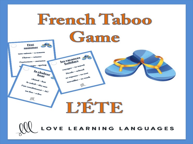 GCSE FRENCH: L'été - French Taboo Speaking Game - Summer Theme