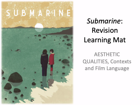 SUBMARINE RICHARD AYOADE WJEC / EDUQAS GCSE FILM STUDIES