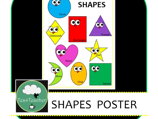 Shapes Poster - Bright and Happy Shape Learning and Recognition