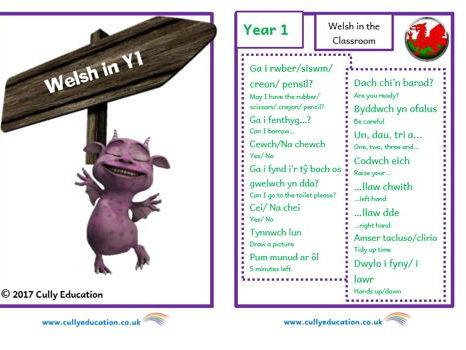 Incidental Welsh Booklet for the Y1 Classroom