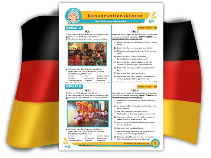 Feierlichkeiten - German Speaking Activity