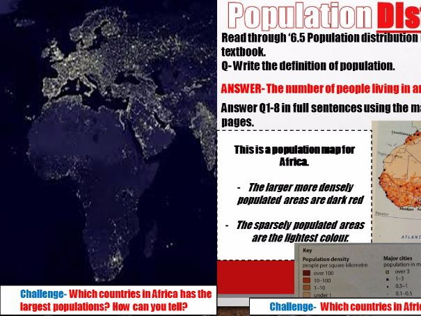 Year 7 2017 SOW Spring Term Africa 6) Populations of Africa [SEN and High ability] WITH ANSWERS