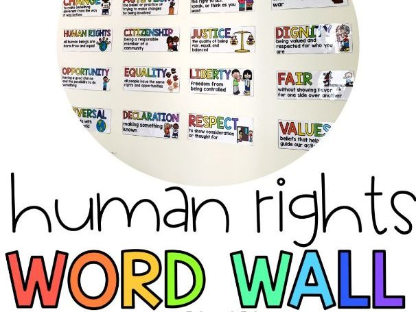Human Rights Word Wall and Vocabulary Activities | Google Drive