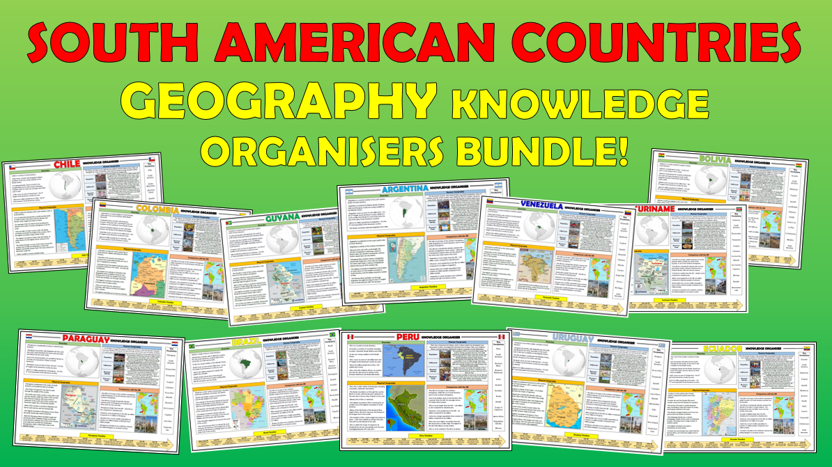 South American Countries KS2 Geography Knowledge Organisers Bundle!