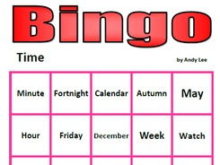 Time Bingo (Days, Months etc.)
