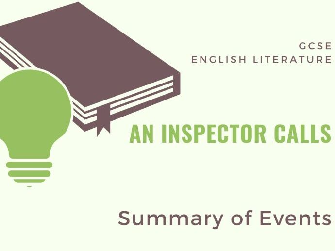 An Inspector Calls - Summary of Key Events