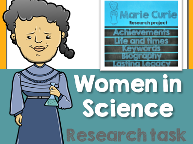 Women in Science Research Task - Marie Curie