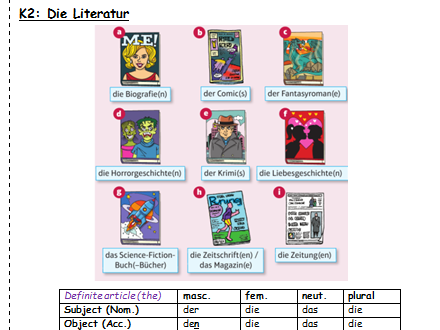 Freizeit - Lesen Literatur /  Aktivitäten