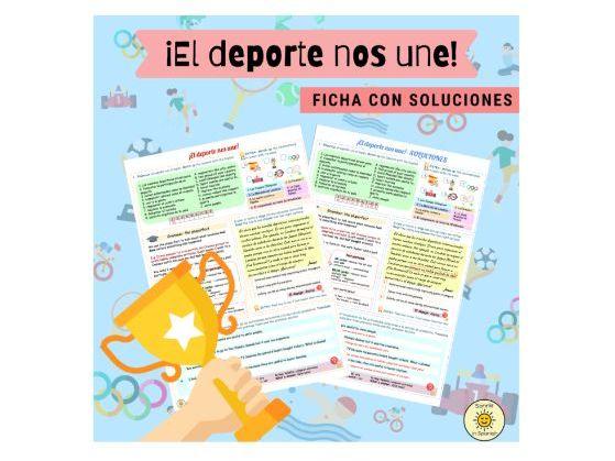 El deporte nos une. Eventos internacionales. Ficha con soluciones. Spanish GCSE. Pluperfect. Answers