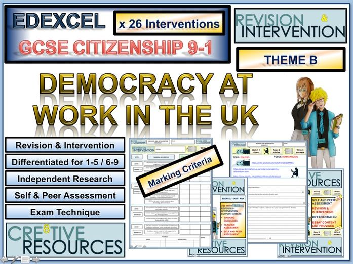 GCSE Citizenship Revision 9-1 EDEXCEL Theme B