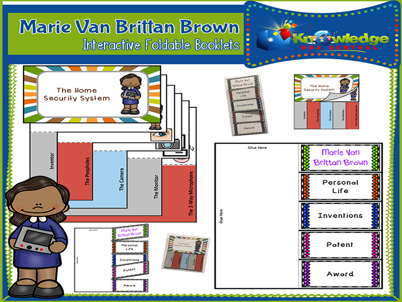Marie Van Brittan Brown Interactive Foldable Booklets