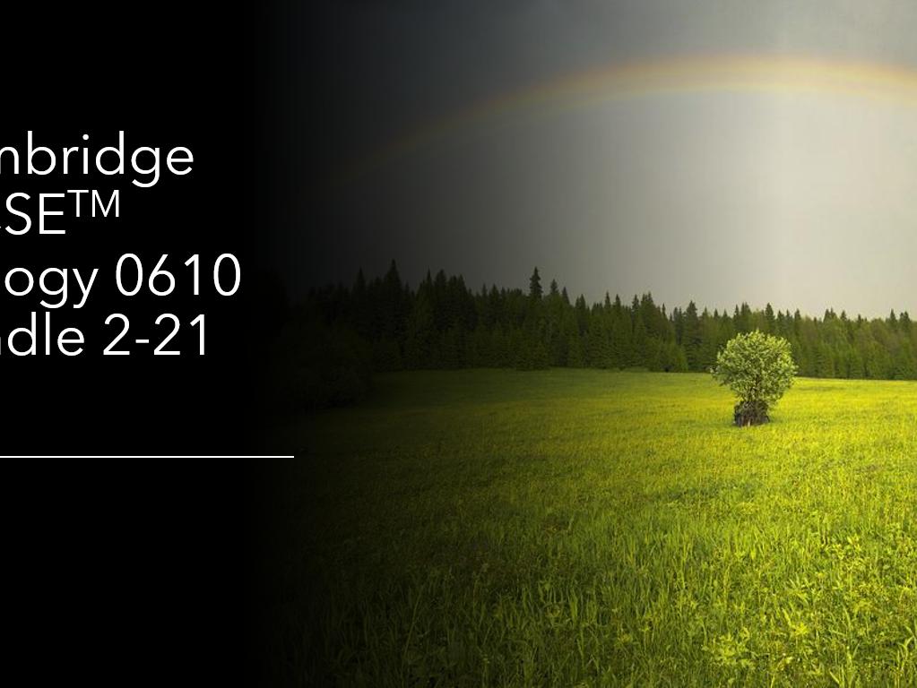 Cambridge IGCSE  Biology 0610 Bundle Topics 2-21