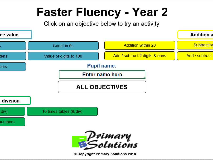 Faster Fluency - Year 2