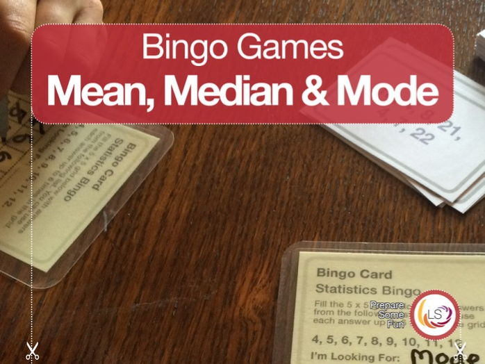 Statistics Bingo for Mean, Median and Mode
