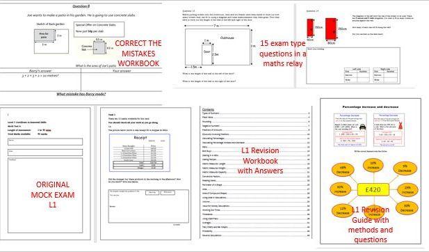 Functional Skills Maths BARGAIN  L1  Revision Bundle