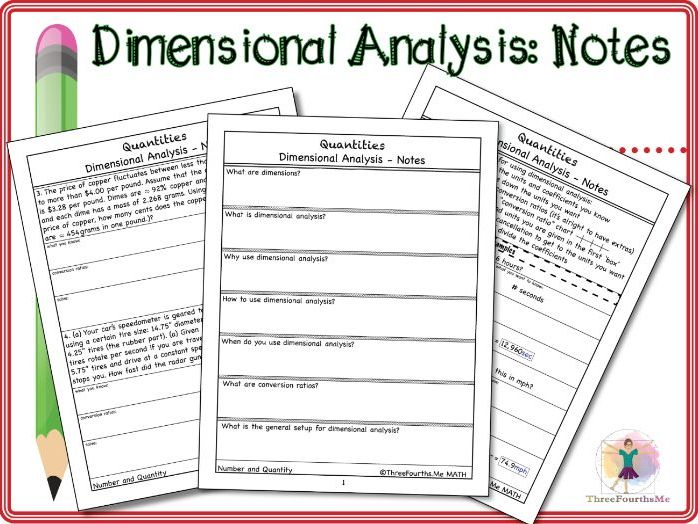 Dimensional Analysis: Scaffolded Notes