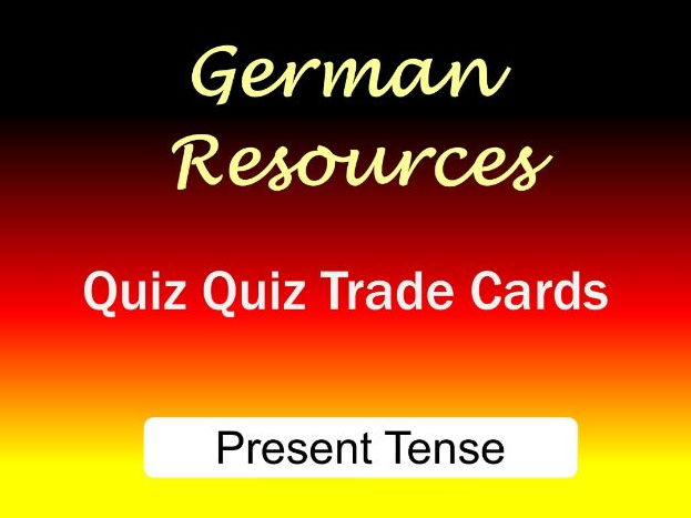 German Activities - Present Tense - Quiz Quiz Trade