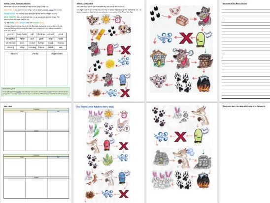 English lesson or Literacy Lesson booklet KS1 suitable for any home learning activities