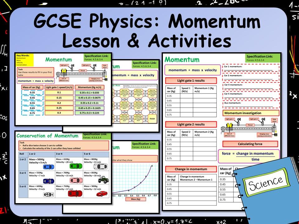 KS4 AQA GCSE Physics (Science) Momentum Lesson