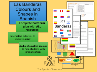 Las Banderas Flags Shapes and Colours in Spanish
