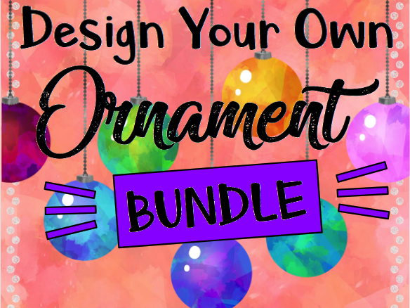 Christmas STEAM: Design Your Own Christmas Tree Ornament BUNDLE