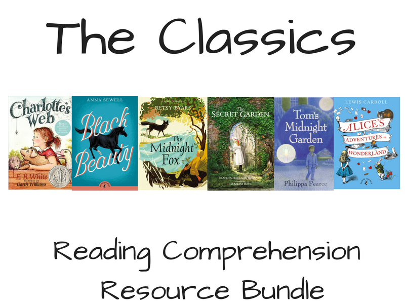 'The Classics' Reading Comprehension Bundle