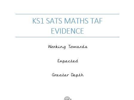 KS1 SATs Maths Evidence (WTS/EXS/GDS)