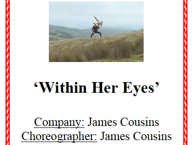 AQA GCSE Dance - Within Her Eyes