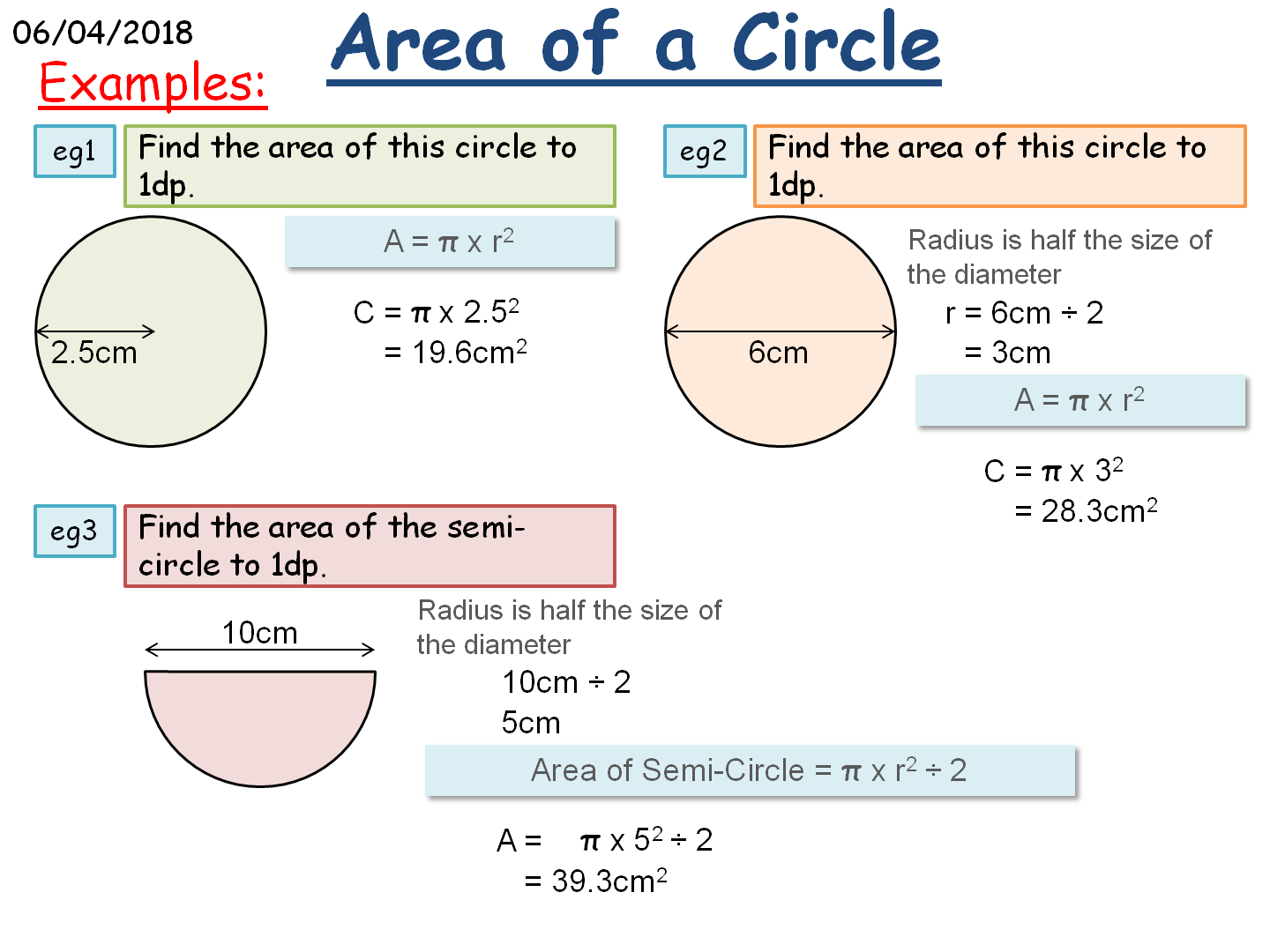 KS3/KS4 Maths: Circles Bundle