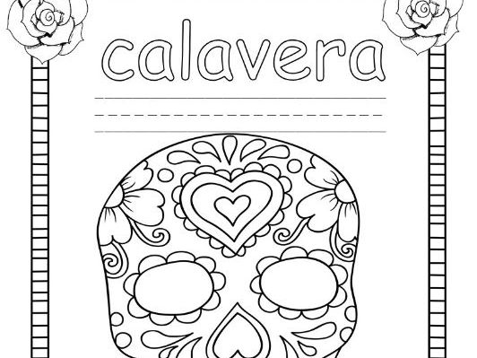 Los Días de los Muertos trace, write, & color sheets for elementary grades