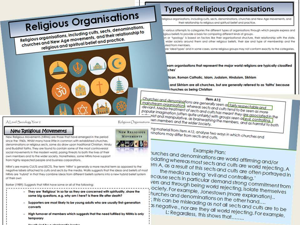 AQA Sociology - Year 2 - Beliefs in Society - Complete Unit
