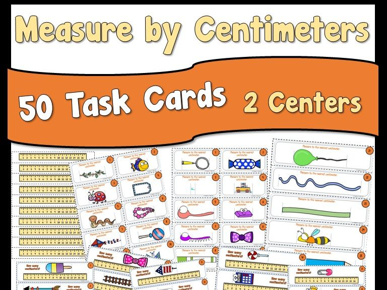 Measure by Centimeters Task Cards