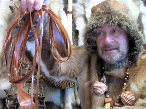 Stone Age String (cordage) - How to Make It - video
