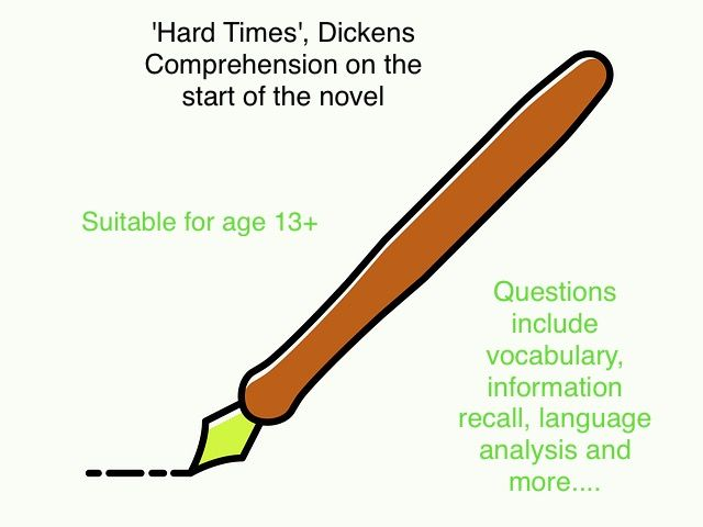 Comprehension from the start of 'Hard Times', Dickens now with answers!