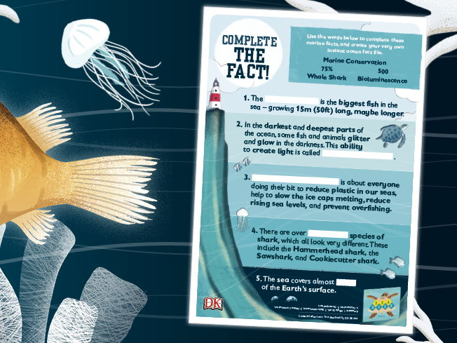 Complete The Ocean Fact Activity Sheet